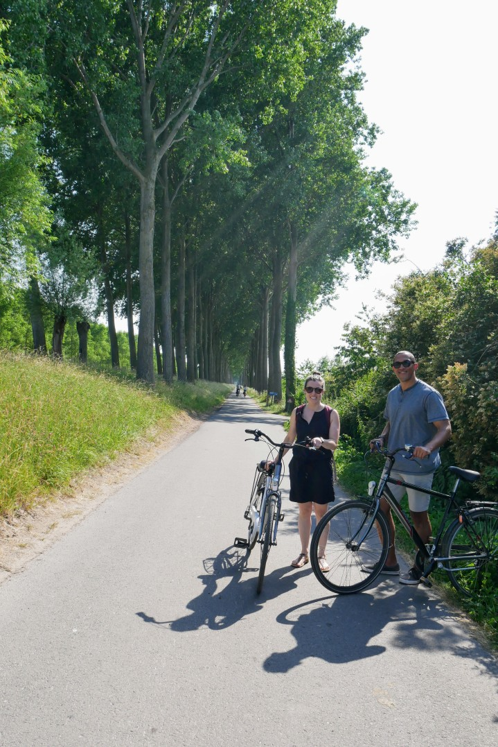 Bruges to Damme on bikes