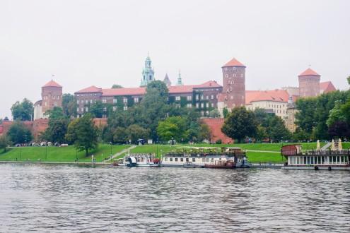 Wawel Castle across the Vistula River