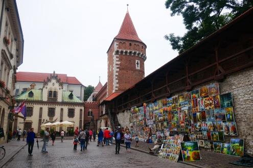 Florianska Gate, a short walk from Rynek Square