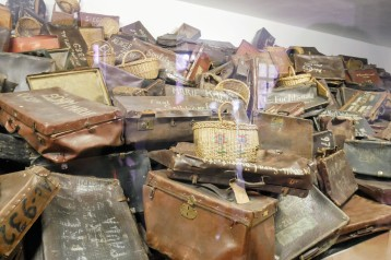 The suitcases left behind at Auschwitz