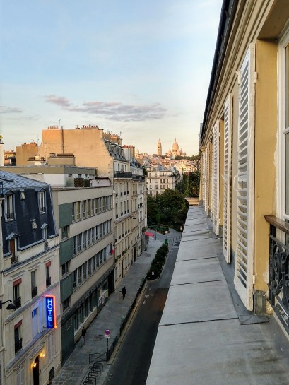 Iconic Paris - Montmartre quarter as seen from an Airbnb balcony