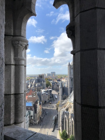 The view from the Ghent Belfry
