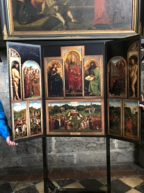 The small-scale replica of the Ghent Altarpiece at St. Bavo's Cathedral in Ghent
