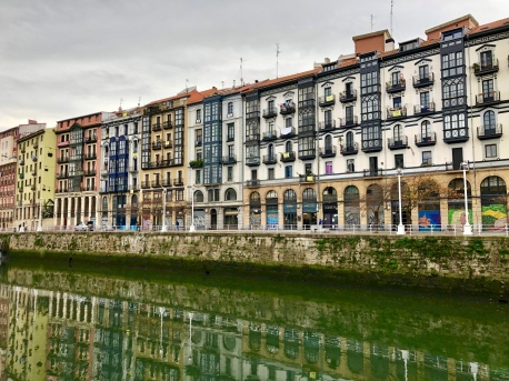 Plenty to see along the estuary running through Bilbao