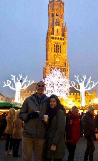 Glühwein purchased from the chalets and drank in front of the Belfry in Bruges