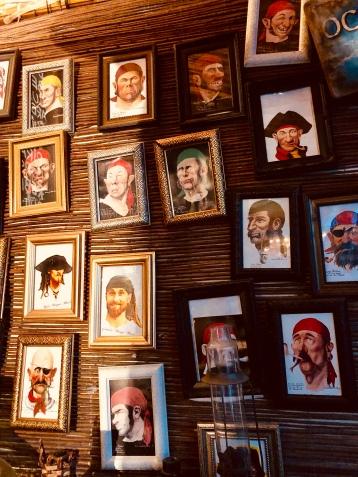 Pirate profiles at Bar Tortuga