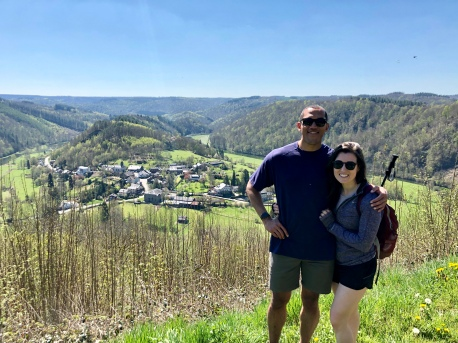 Hiking off our hearty brunch in the Ardennes