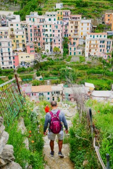The descent into Manarola was steep but we were sure-footed