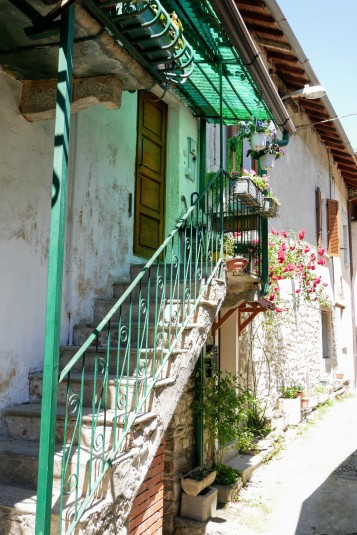The narrow cobblestone streets of the Strada Regia
