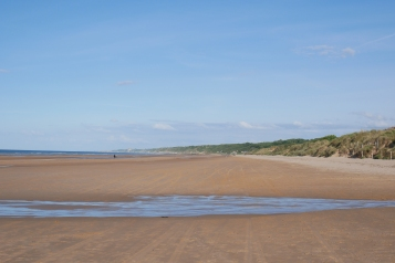 The calm and inviting Normandy sea-side 75 years after D-Day
