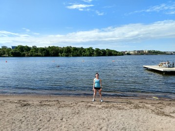 The Smedsuddsbadet swimming beach would be ideal for tri training