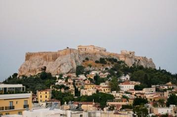 Sunrise views of the Acropolis