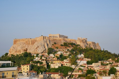 First views of Acropolis from the apartment