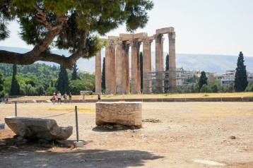 The ruins of the Temple of Olympian Zeus