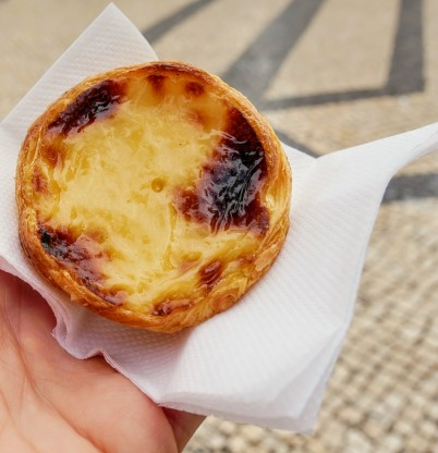 The famed pastéis de nata and Ginjinha make a lovely pairing