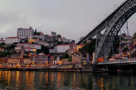 The beloved Ponte Luis I bridge in Porto