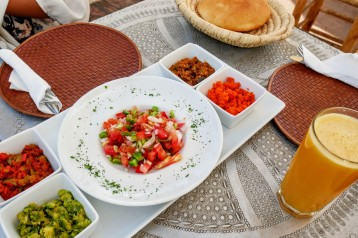 Moroccan salads (my favorites were the cooked carrots and eggplant)