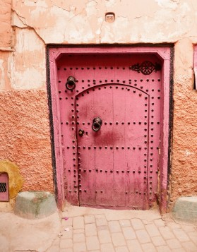 Thedoors of the red city of Marrakech