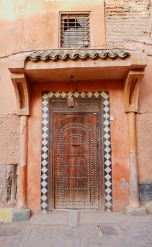 The doors of the red city of Marrakech