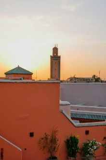 Sunset over the minaret