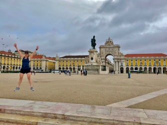 Back at the Praça do Comércio