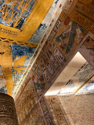 The artwork inside the tombs was well-preserved