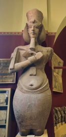 Statue of Akhenaten with uniquely distorted features