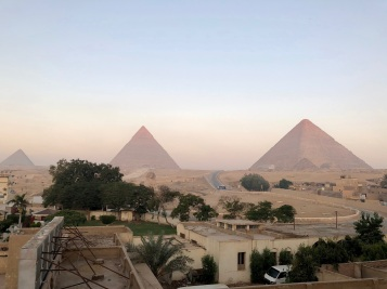 Our view of the pyramids by day