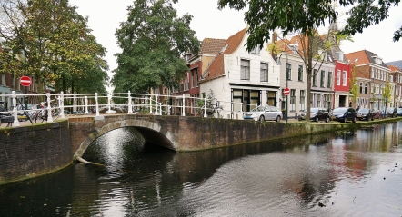 Charming canals of Delft