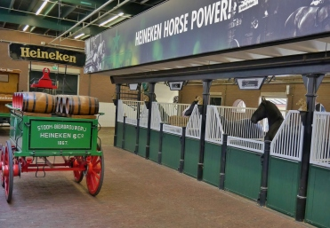 My highlights of the Heineken tour: practicing my rugby field goal and the Heineken horses named after prominent company personnel