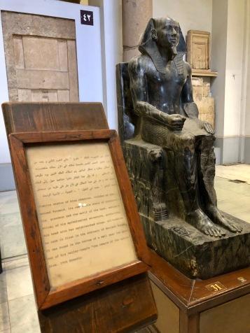 Large, seated statue of the Pharaoh Khafra (Chephren)