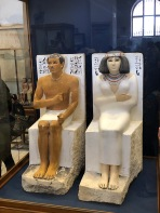 Well-preserved and beautiful statues of Rahotep and his wife Nofret