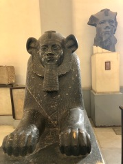 Lion headed sphinx of Amenemhet III