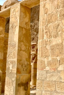 The Hathor column at the Temple of Hatshepsut