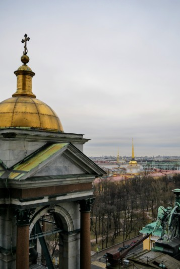 The view from the dome of St. Isaac's Cathedral