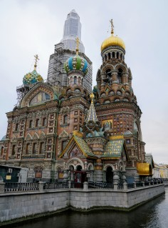 Exterior of the Church of the Savior on the Spilled Blood with restoration work in progress