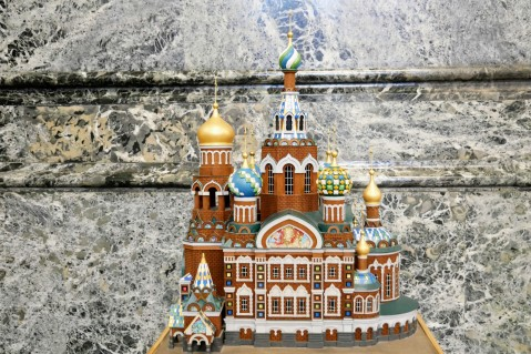 Model of the Church of the Savior on the Spilled Blood (displaying the opposite side of the building)