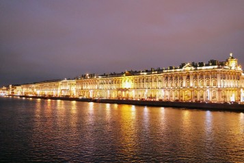 The Winter Palace across the Neva River