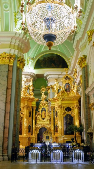 Inside the Peter and Paul Church that serves as the final resting place of many of Russia's imperial families