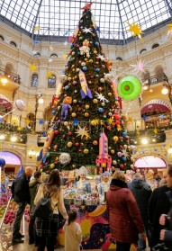 Inside the Gum store where there was no shortage of Christmas spirit