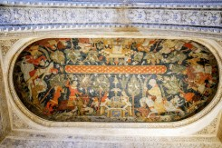 The Sala de los Reyes with its beautiful ceiling paintings on leather