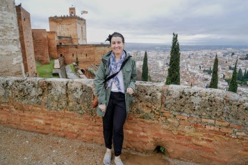 The towers of the Alcazaba are the oldest structures in the Alhambra