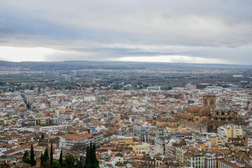 The view of Granada from the towers of the Alcazaba