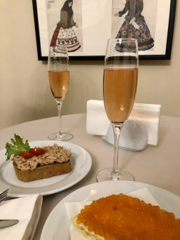 A light dinner at the Mikhailovsky Theater