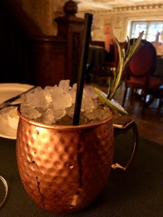 A Russian Mule at at Cafe Pushkin