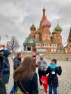 Irina explaining the history of St. Basil's Cathedral