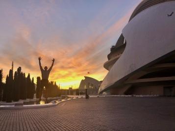 Hard to beat these scenic sunrise jumps in La Ciudad de las Artes y las Ciencias