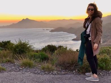 Arriving just in time for sunset at Torre de los Lobos in the Cabo de Gata-Níjar Natural Park