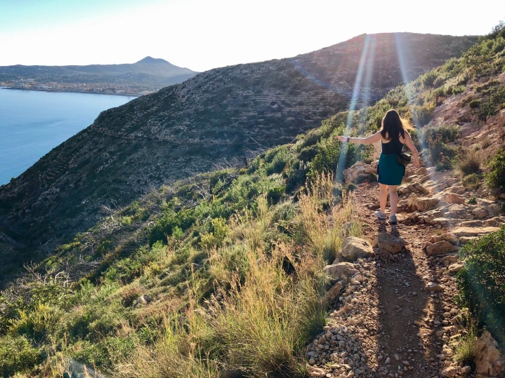 The walk to/from the marina of Xàbia