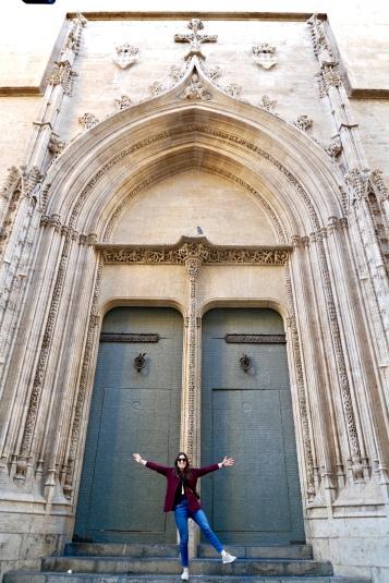 Kaitlan inspired by the doors at Iglesia de Sant Joan del Mercat